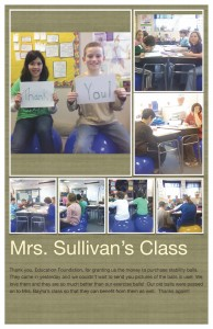 Thank you note from Mrs. Sullivan's Class